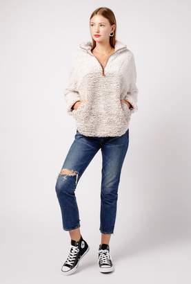 Azalea Fluffy Fleece Sweater