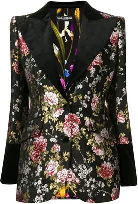 Dolce & Gabbana floral embroidered blazer
