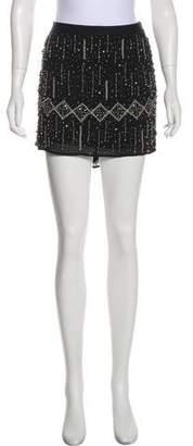 Gryphon Embellished Silk Skirt