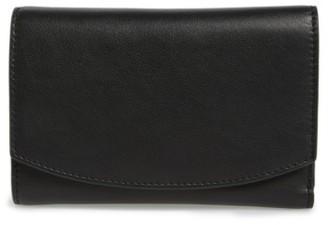 Women's Skagen Compact Leather Flap Wallet - Black $95 thestylecure.com