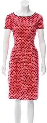 Oscar de la Renta Printed Midi Dress