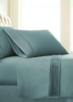 SOUTHSHORE FINE LINENS King Sized Premium Collection Double Brushed Extra Deep Pocket Pleated Sheet Set - Steel Blue (Teal)