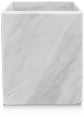 "Water Works Waterworks ""White Marble"" Wastebasket"