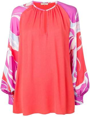 Emilio Pucci printed sleeve blouse