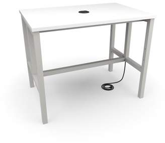 "OFM Endure Series Model 9004-T 48"" Standing Height Table, White Dry-Erase Top with Gray Frame"