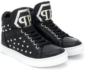 Philipp Plein Junior studded high-top sneakers