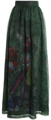 Stella Jean Printed Organza Maxi Skirt