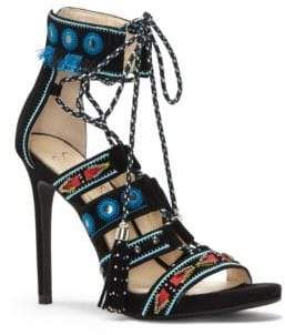 Jessica Simpson Roona Suede Lace-Up Sandals