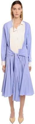 Loewe Two Tone Cotton Shirt Dress