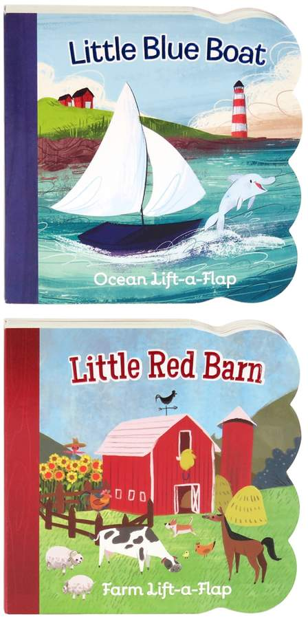 Cottage Door Press 2 Pack: Little Red Barn & Little Blue Boat