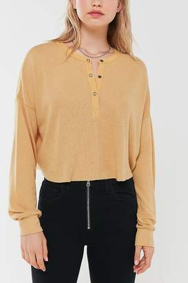 Out From Under Emmy Cropped Henley Top