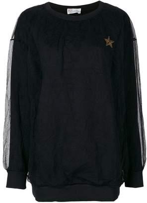 RED Valentino lace layer sweatshirt
