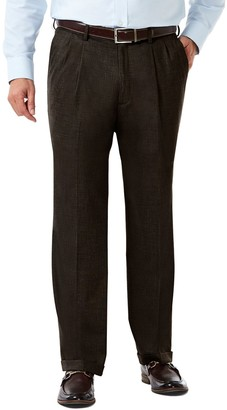 Haggar Mens J.M. Premium Classic-Fit Pleat-Front Stretch Suit Pants