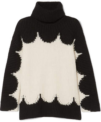 Valentino Oversized Wool Turtleneck Sweater - Black