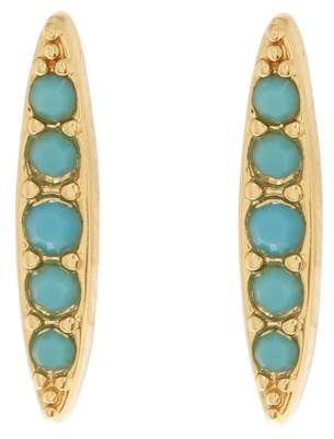 Adore Gold Plated Pave Swarovski Crystal Accented Marquise Stud Earrings