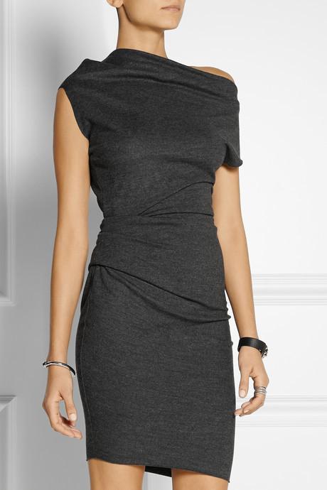 Helmut Lang Sonar asymmetric wool dress 4
