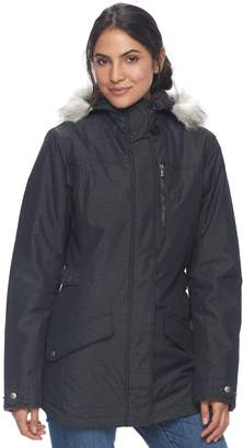 Columbia Women's Penns Creek Thermal Coil Hooded Faux-Fur Trim Jacket