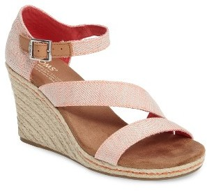 Women's Toms Clarissa Wedge Sandal $68.95 thestylecure.com