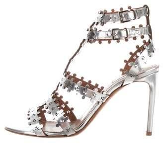 Alaia Laser-Cut Caged Sandals