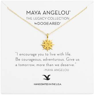 """Dogeared Maya Angelou Legacy Collection """"I Encourage You"""" Necklace, 16"""""""