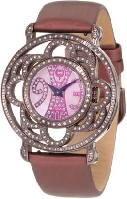 Brillier Women's 04-71727-10 Papillon Swiss-Quartz Mother-Of-Pearl Watch