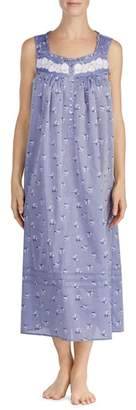Eileen West Chambray Long Nightgown
