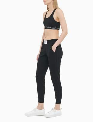 Calvin Klein Logo Smocked Waistband Jogger Sweatpants