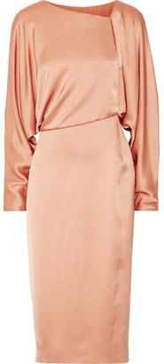 TOM FORD - Draped Cutout Silk-satin Midi Dress - Sand $3,450 thestylecure.com