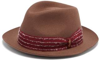 Borsalino Shaved Felt Fedora - Mens - Brown
