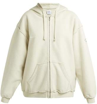 Vetements Inside Out Zip Up Hoodie - Womens - Ivory
