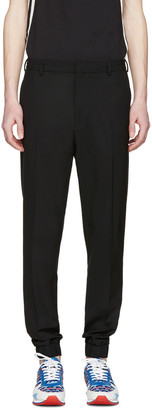 Kenzo Black Wool Elasticized Trousers $315 thestylecure.com