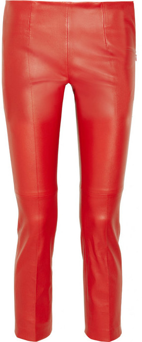 Miu Miu Cropped stretch-leather pants
