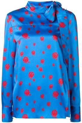 Kenzo Roses pussybow blouse