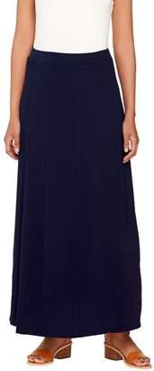 Susan Graver Weekend Cotton Modal Gored Maxi Skirt