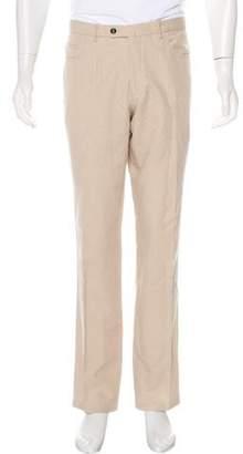 Isaia Linen-Blend Pants