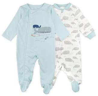 M·A·C Mac & Moon Sleep 'N Play Pajamas, 2-pack (Baby Boys)