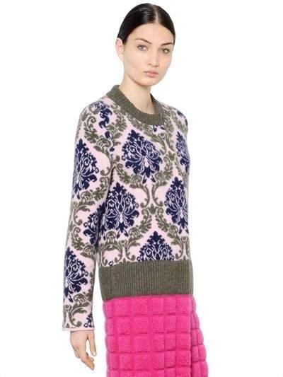 Mary Katrantzou Wool Jacquard Coat