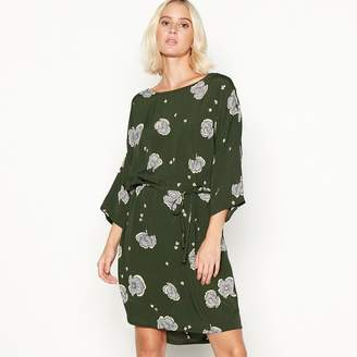 Minimum Green Floral Print 'Josefine' Shift Dress