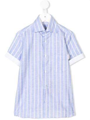 Stefano Ricci Kids striped short sleeve shirt