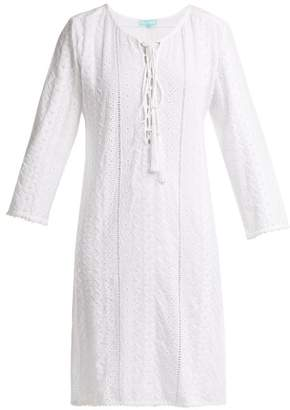 Melissa Odabash Bella Lace Up Broderie Anglaise Dress - Womens - White