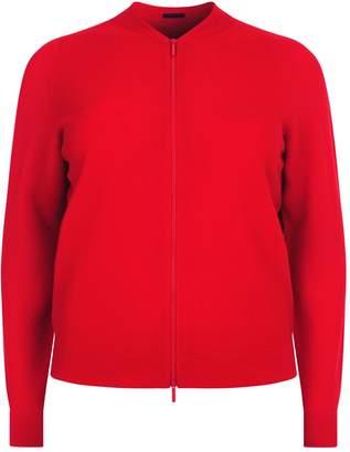 Marina Rinaldi Cashmere Zipped Cardigan