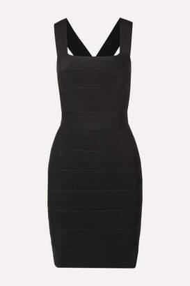 Herve Leger Cutout Bandage Mini Dress - Black