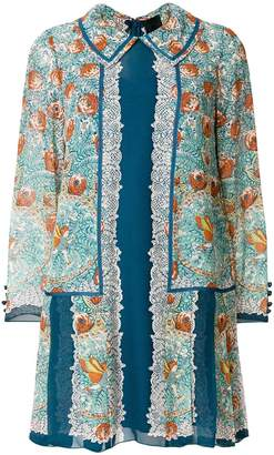 Anna Sui floral shirt dress