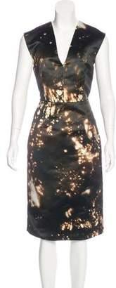 Cushnie et Ochs Printed Midi Dress w/ Tags