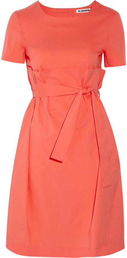 Jil Sander Luster cotton-blend dress
