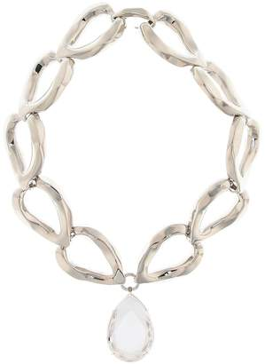 Alexander McQueen Crystal-embellished chain necklace
