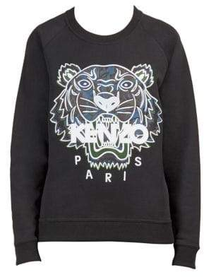 Kenzo Women's Floral Tiger Sweatshirt - Black - Size XS