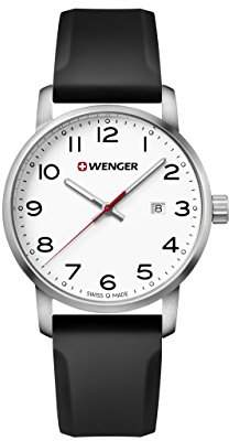Wenger Men's 'Sport' Swiss Quartz Stainless Steel and Silicone Casual Watch