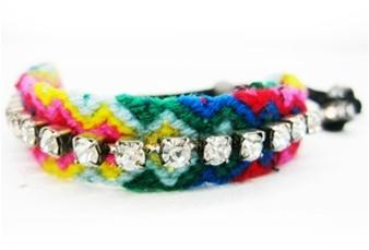 Michelle Roy Crystal Friendship Bracelet