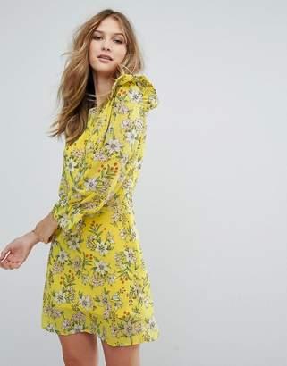 Vero Moda Floral Ruffle Skater Dress